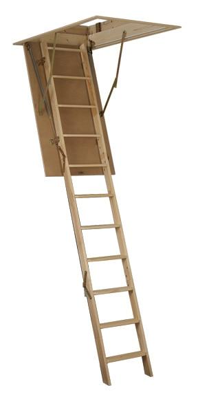 escalera escamoteable madera caj n ref 15736154 leroy