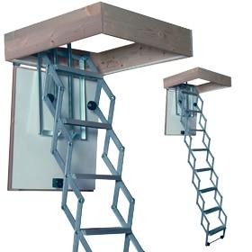Escaleras escamoteables leroy merlin transportes de - Escaleras plegables techo ...