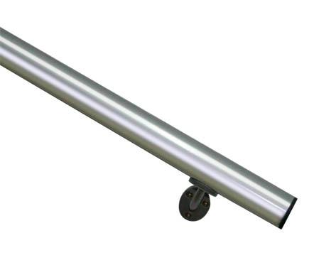 Kit pasamanos aluminio pulido 2 metros ref 13930924 for Pasamanos leroy merlin