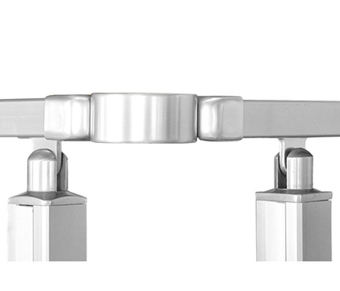 Aluminio junta regulable pasamanos barandilla square ref for Pasamanos leroy merlin
