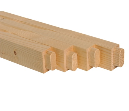 Balaustres kit balaustres madera abeto ref 11262076 for Balaustre in cemento leroy merlin
