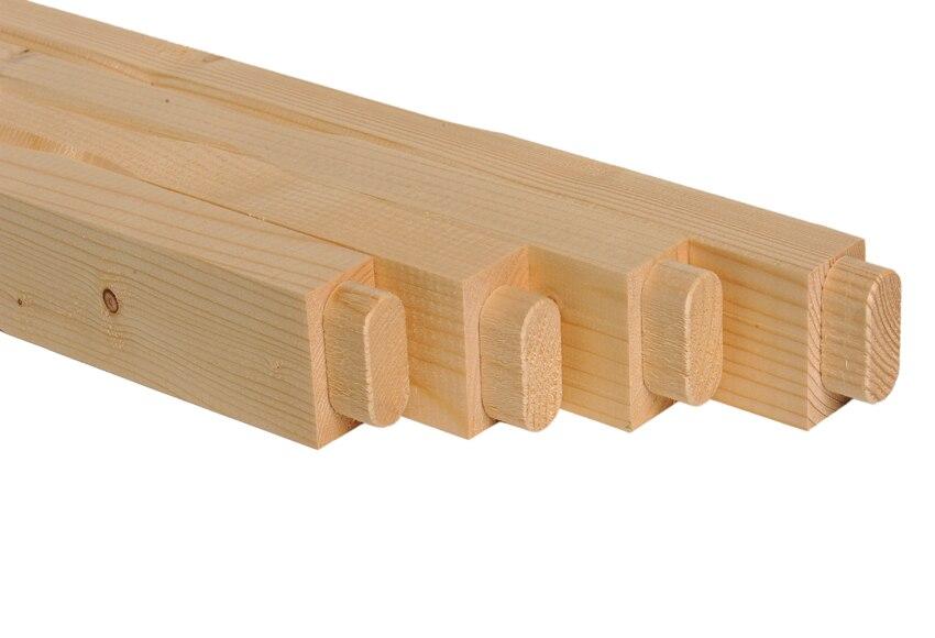 Balaustres kit balaustres madera abeto ref 11262076 for Leroy merlin balaustre