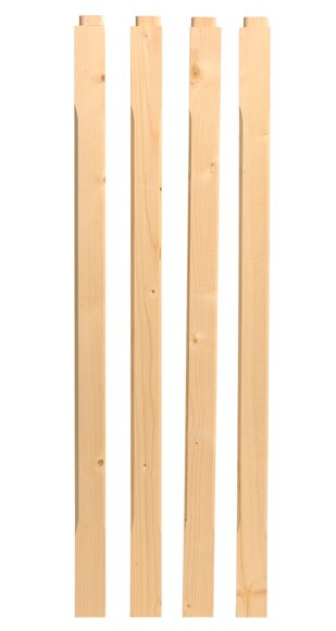 Kit balaustres madera abeto kit balaustres madera abeto for Leroy merlin balaustre