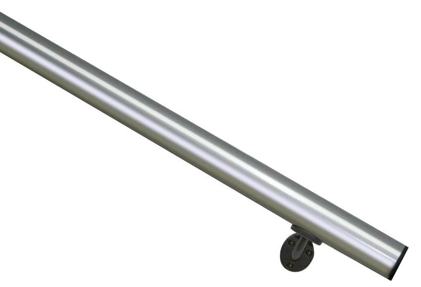 Aluminio kit pasamanos 2 metros ref 13930924 leroy merlin for Pasamanos leroy merlin