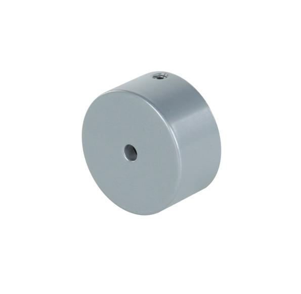 Partida de pared kit pasamanos aluminio blanco ref for Pasamanos de aluminio