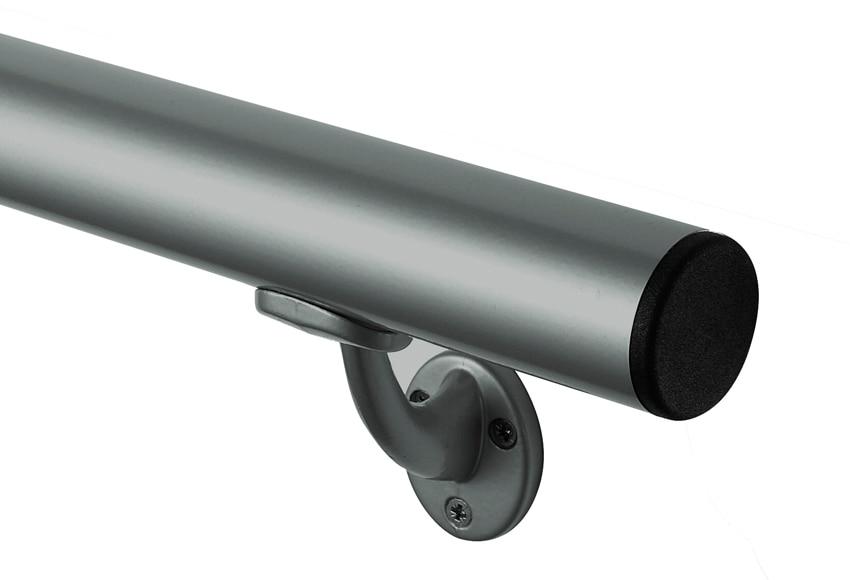 Pasamanos pasamanos aluminio gris ref 13930945 leroy merlin for Pasamanos leroy merlin