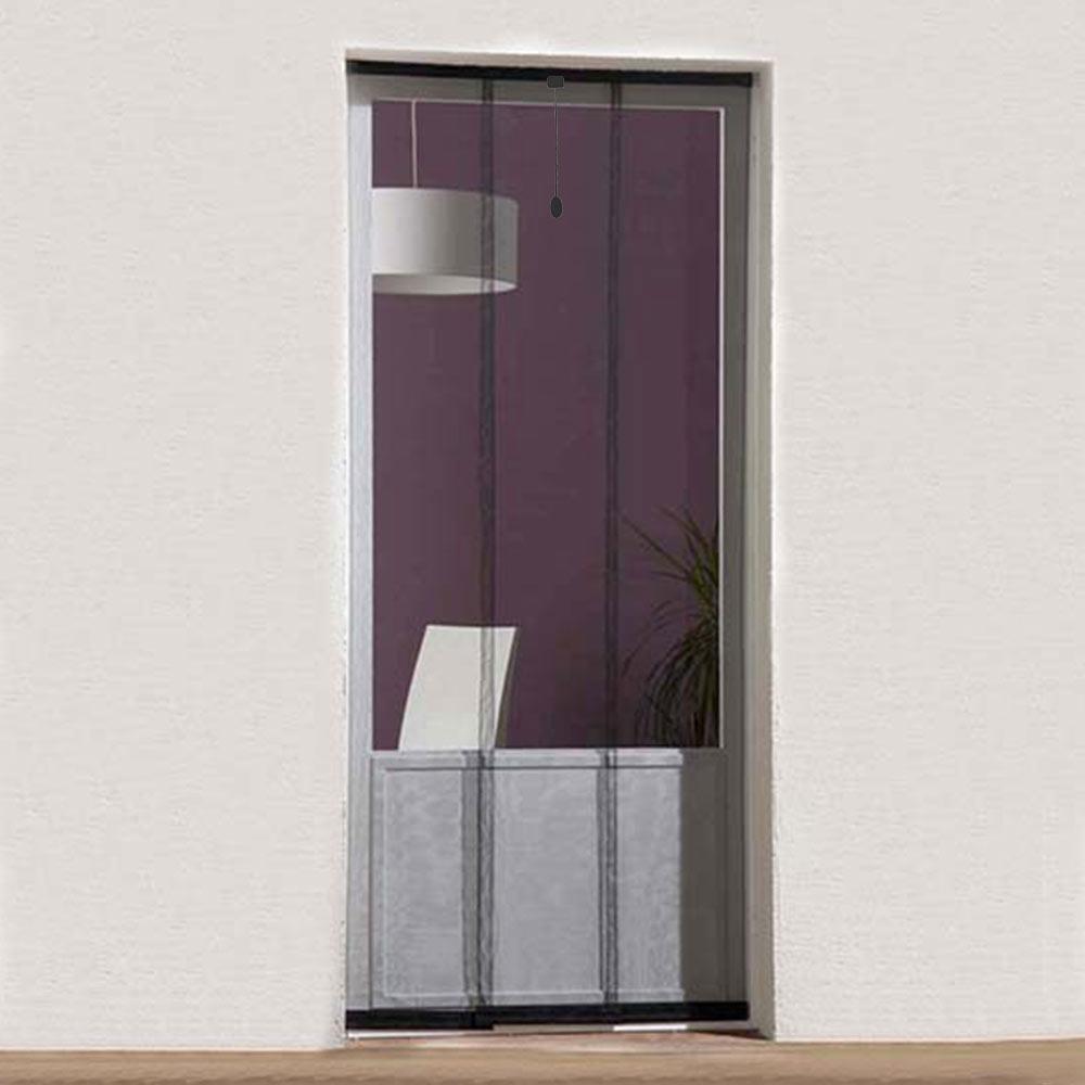 Mosquitera cortina puerta basic ref 16696743 leroy merlin - Cortinas mosquiteras para puertas ...