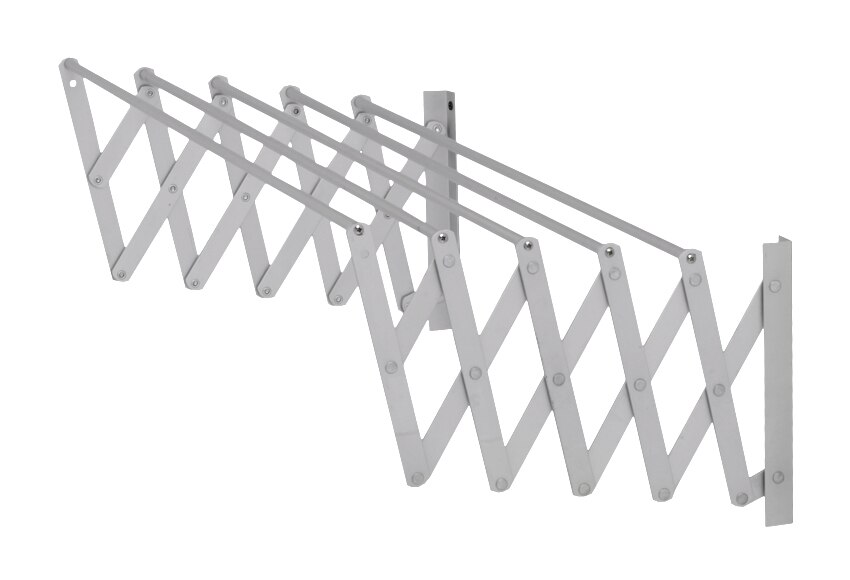 Tendedero de pared acordeon aluminio ac 80 cm ref - Tendedero exterior pared ...