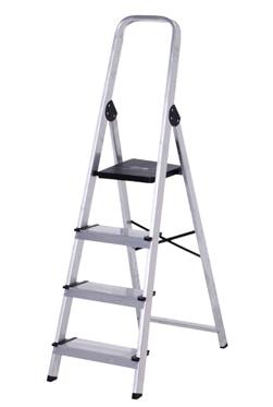 Escalera de tijera dom stica altipesa aluminio 4p anchos for Escaleras domesticas plegables