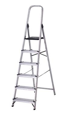 Escalera de tijera dom stica altipesa aluminio 6p anchos for Escaleras domesticas plegables