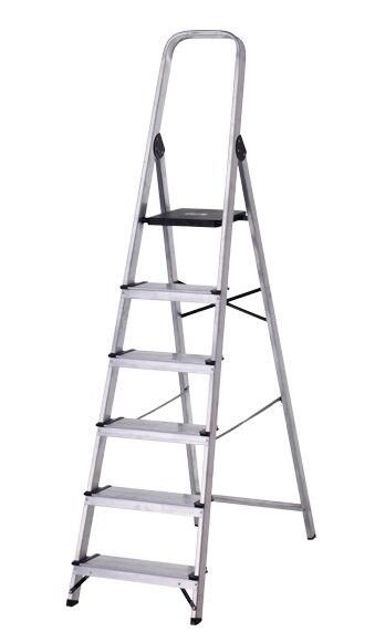Escalera De Tijera Dom Stica Altipesa Aluminio 6p Anchos