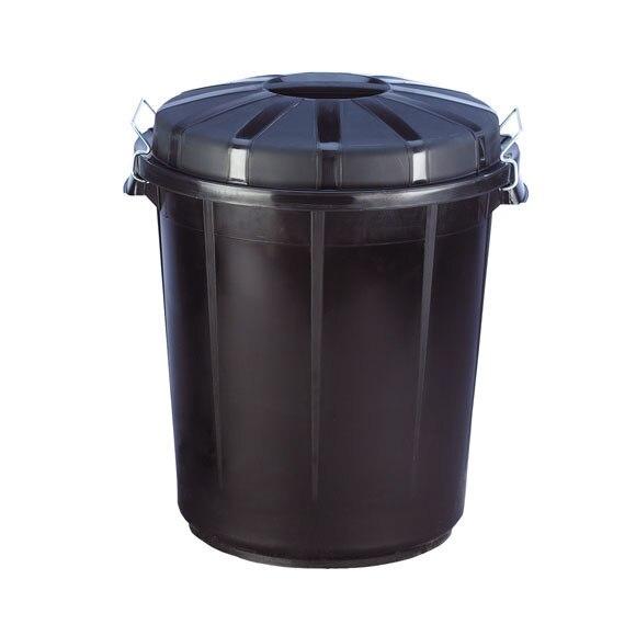 Cubo de basura pl stico negro ref 31906 leroy merlin for Cubos de basura leroy merlin