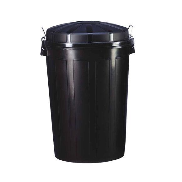 Cubo de basura pl stico negro ref 32011 leroy merlin for Cubos de basura leroy merlin
