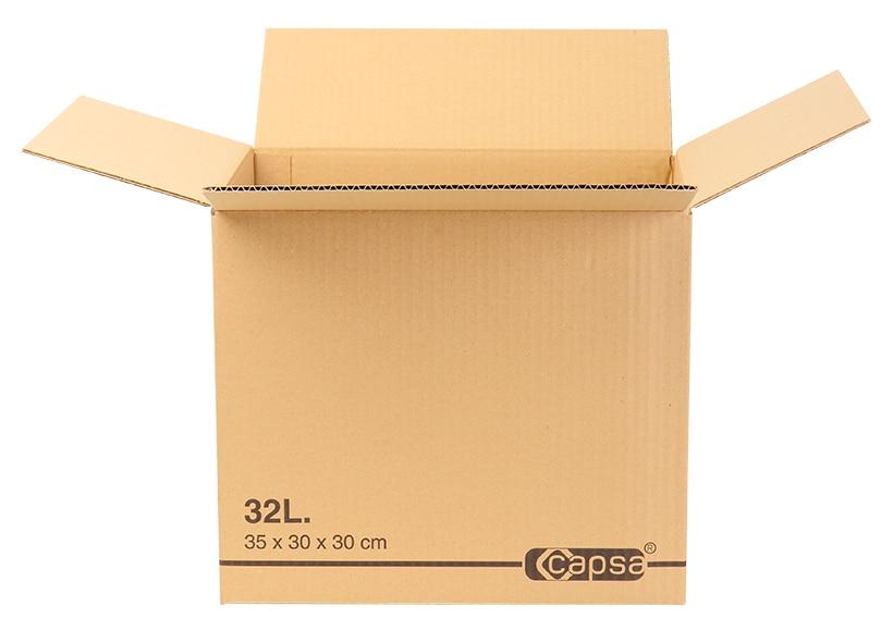 caja de cart n 32 litros ref 16454795 leroy merlin. Black Bedroom Furniture Sets. Home Design Ideas