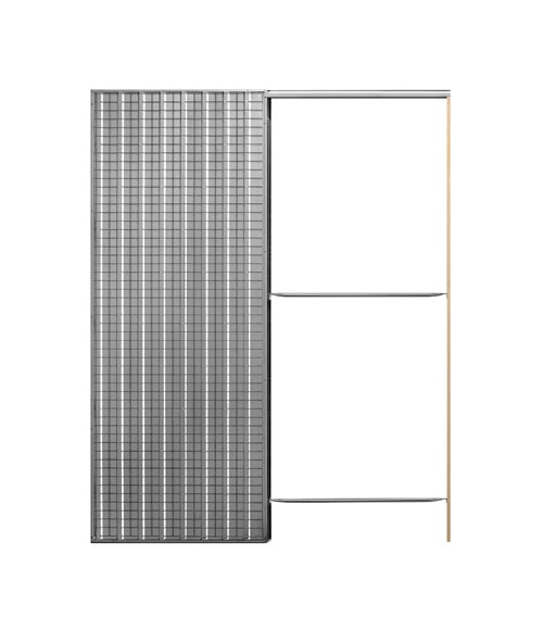 Guia encastrable para puerta corredera puerta simple 60 for Puerta corredera encastrable