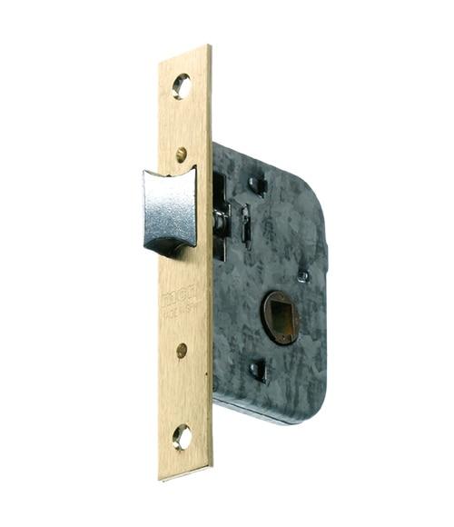 Cerradura para puerta de madera mcm 1510 latonado ref 10384101 leroy merlin - Cerradura de puerta de madera ...