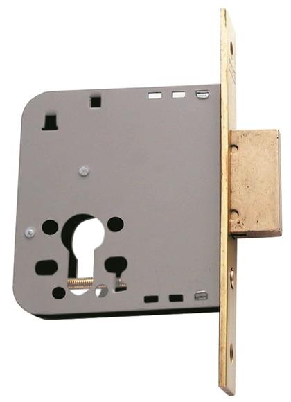 Cerradura para puerta de madera tesa 2030 2031 latonado ref 15778105 leroy merlin - Cerradura de puerta de madera ...