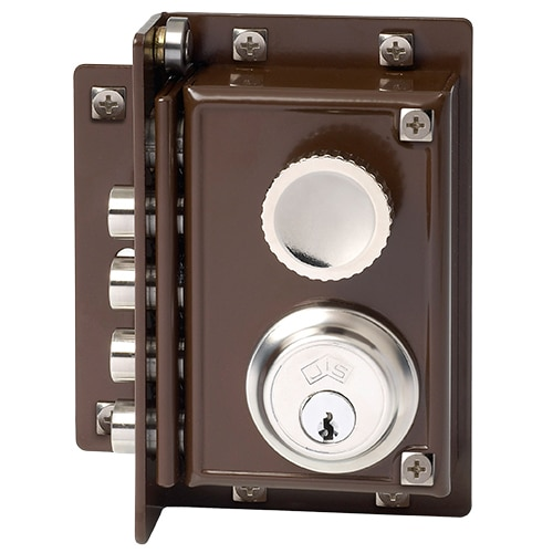 Cerradura para puerta de madera jis 240 marron ref 469131 - Leroy merlin cerraduras ...