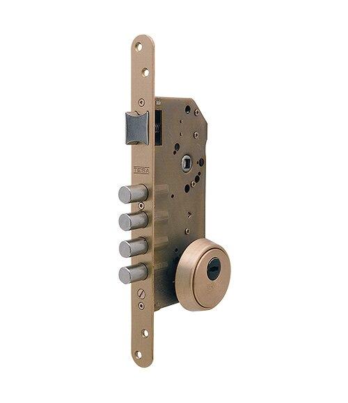Cerradura para puerta de madera tesa r200b latonado ref - Leroy merlin cerraduras ...