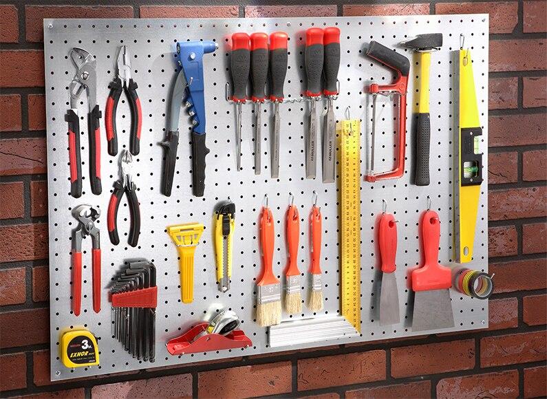 Panel perforado de 90cm de alto ref 12101390 leroy merlin - Comment ranger les outils de jardin ...