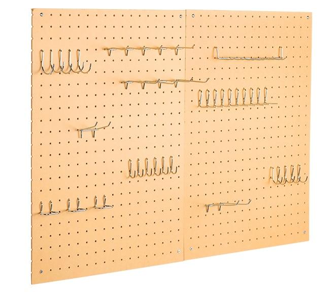 Panel perforado de 45cm de alto ref 12135165 leroy merlin - Tablero perforado madera ...