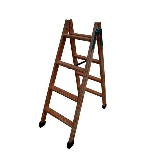 Escalera de madera siersa madera 4p ref 15126881 leroy - Escaleras leroy merlin ...
