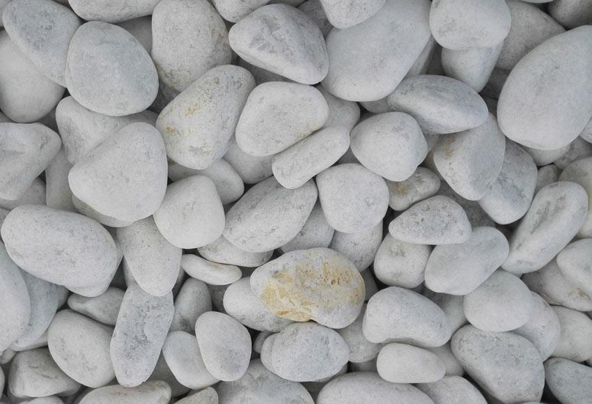 Canto rodado blanco de 40 a 60 mm de grosor arisac blanco - Canto rodado blanco ...
