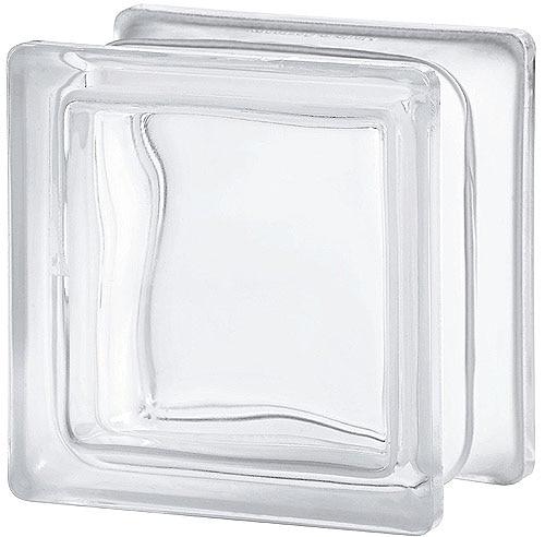 Bloque de vidrio nubio ondulado incoloro ref 10468444 - Bloques de cristal ...