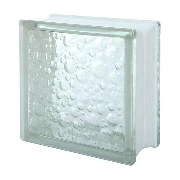 Bloque de vidrio burbujas incoloro ref 12912606 leroy - Bloque de vidrio precio ...
