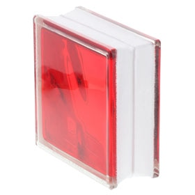 bloque de vidrio reflejos rojo ondulado ref 18701046 leroy merlin. Black Bedroom Furniture Sets. Home Design Ideas