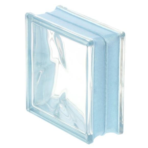 Bloque de vidrio reflejos azul ondulado ref 17670443 - Cocinas con bloques de vidrio ...