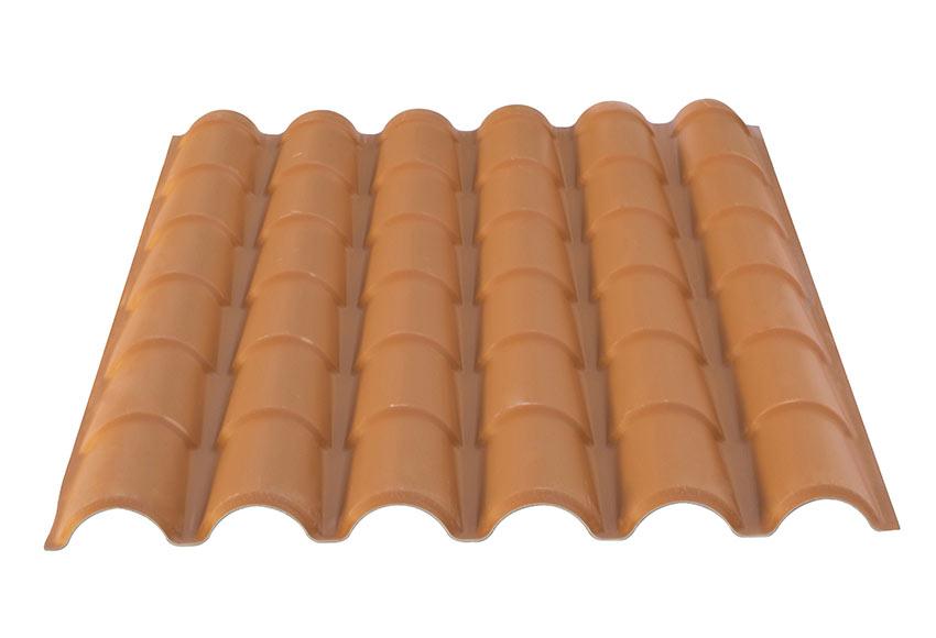 Cobertura pl stica de imitaci n de teja tecnoimac ref for Plastico para tejados