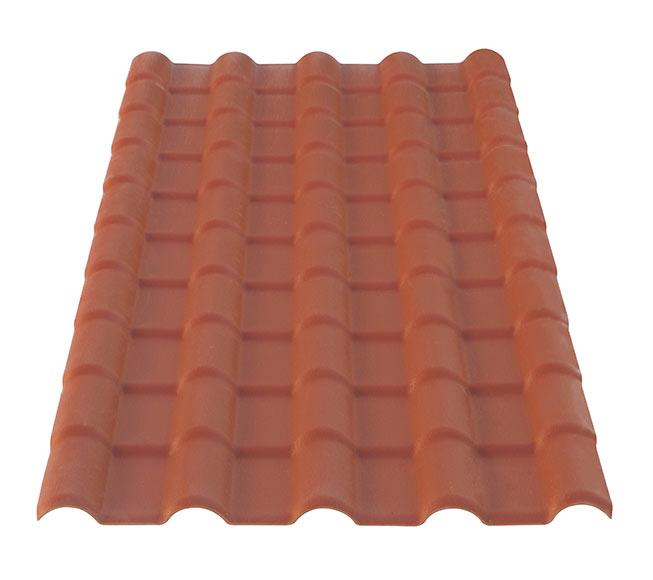 Placa imitaci n teja placa terracota peque a onda for Placa imitacion teja