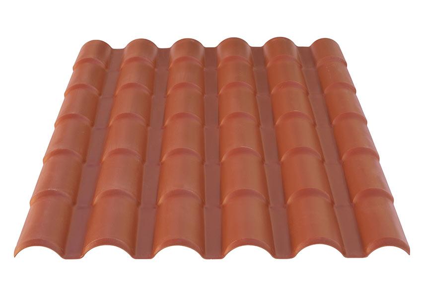 Cobertura pl stica de imitaci n de teja ref 15375913 for Placas policarbonato bricodepot