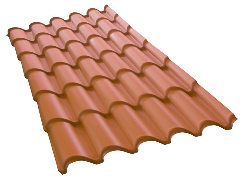 Cobertura pl stica de imitaci n de teja tecnoimac ref for Tejados de madera leroy merlin