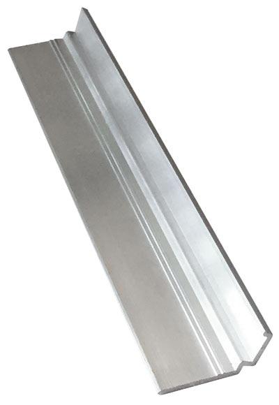 Perfil suplmento lateral policarbonato 10 mm 2 m alu ref for Policarbonato compatto leroy merlin