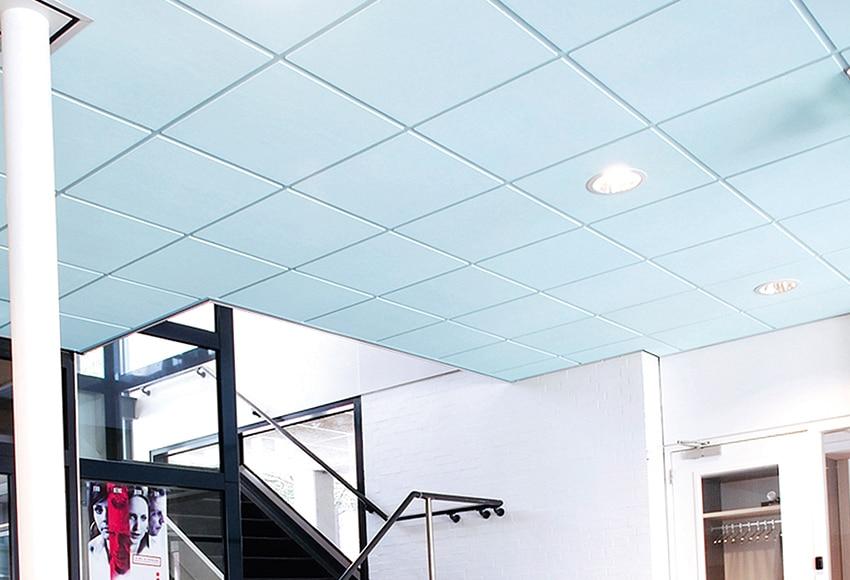 24 placas de techo ac stico eurocoustic tonga azul ref - Placas decorativas para techos ...