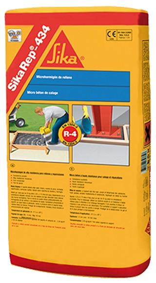 Mortero de reparaci n estructural sika sikarep 434 ref for Mortero de reparacion