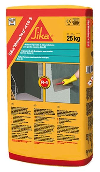 Mortero de reparaci n estructural sika sika monotop 418s for Mortero de reparacion