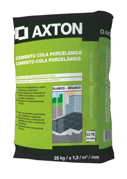 cemento cola axton porcelnico blanco