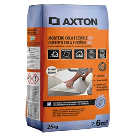 Mortero cola Axton FLEXIBLE GEL 25KG