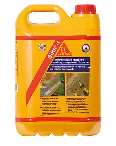 Impermeabilizante para morteros y hormigones sika sika 1 for Pintura impermeabilizante sika