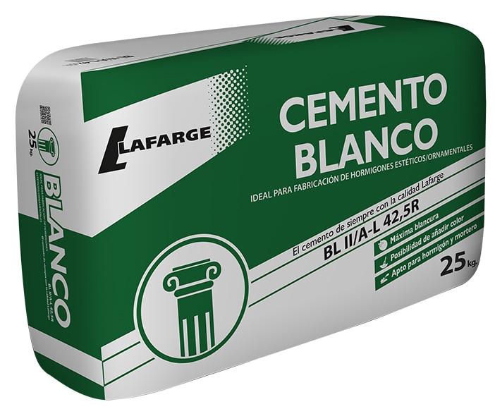 saco de cemento lafarge blanco 42 5 25kg ref 19729332