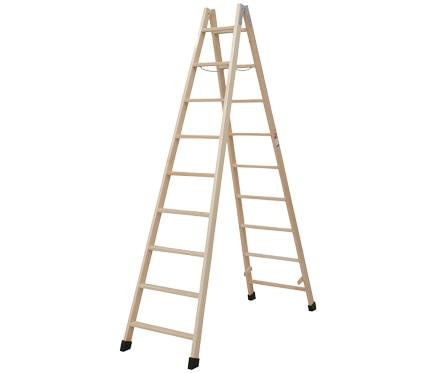 Escalera de madera 9 9 pelda os sin barniz ref for Escalera 9 escalones