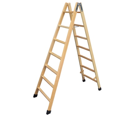 escalera de madera 77 peldaos 2m barniz - Escaleras Madera