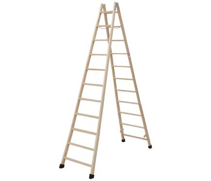 Escalera de madera 11 11 pelda os 3m barniz ref 19150320 - Peldanos de madera para escalera ...