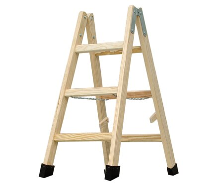 Escalera de madera haya 3 pelda os 1m barniz ref 19150341 leroy merlin - Escaleras de madera leroy merlin ...
