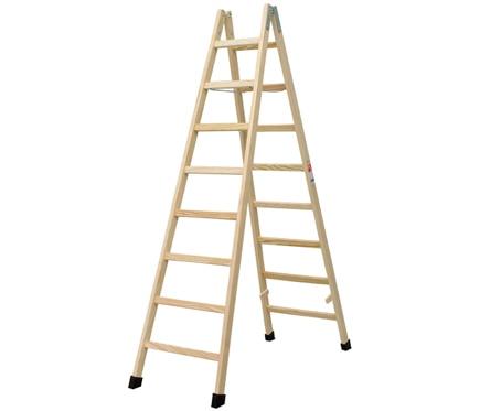 Escalera de madera haya 8 pelda os barniz ref for Escaleras 8 peldanos