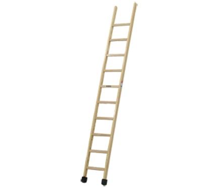 Escalera de madera simple 1 tramo barnizada 10 pelda os ref 19150621 leroy merlin - Escaleras de madera leroy merlin ...