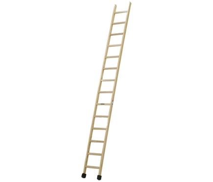 Escalera de madera simple 1 tramo barnizada 14 pelda os ref 19150656 leroy merlin - Peldanos de madera para escalera ...